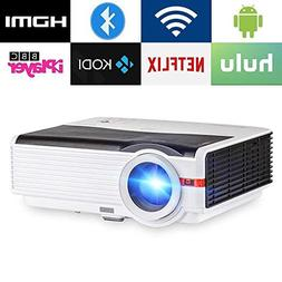 CAIWEI Bluetooth Projector Android6.0, 4200 Lumens Wireless