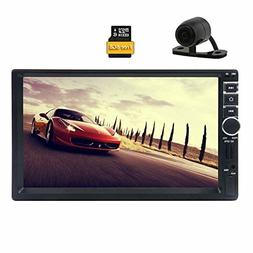 Backup Camera Included! EinCar 7'' Touch Screen Car Stereo I
