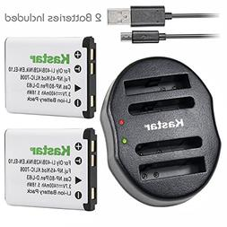 Kastar Battery  & Dual USB Rapid Charger for Fujifilm NP-45,