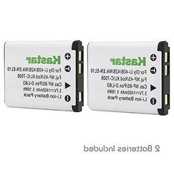 Kastar 2 Pack Battery for Nikon EN-EL10 and Nikon S60 S80 S2
