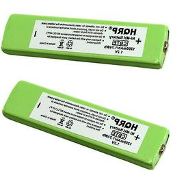 HQRP 2 Pack Battery Replacement for RadioShack 43-5519 / 43-