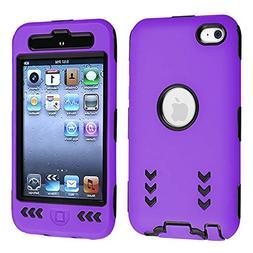 Black Hard/ Purple Skin Arrow Hybrid Case Cover compatible w