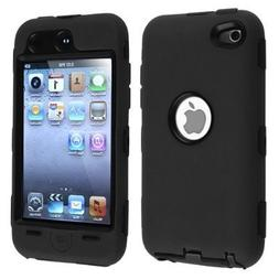 Black Hard / Black Skin Hybrid Case Cover compatible with Ap