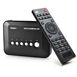 AGPtek Black 1080P HDMI TV Media Player with HDMI YPbPr USB