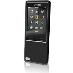 iGadgitz Black Silicone Skin Case Cover for Sony Walkman NWZ