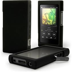 iGadgitz Black Silicone Skin Case Cover for Sony Walkman NW-