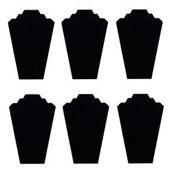 TWING Black Velvet Necklace Jewelry Display Organizer Stand