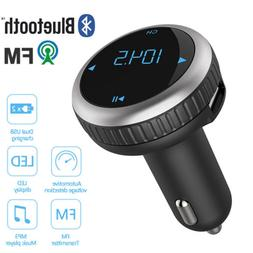 Bluetooth 4.2 FM Transmitter Car Kit Wireless LCD MP3 Radio