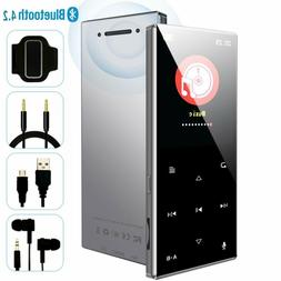 Bluetooth 4.2 Metal Touch Mp3 Player 60 Hr Play Built in Spe