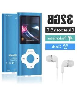 Bluetooth 5.0 MP3 / MP4 Player with 32GB Memory Card, 1.8''