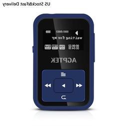 AGPTEK Bluetooth MP3 Player 8GB with Clip FM&Recorder Slot u