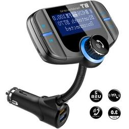 Bluetooth Adapter 2 USB Charger FM Transmitter In-Car Wirele