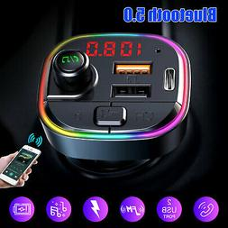 Bluetooth Car FM Transmitter MP3 Player Radio Adapter QC3.0