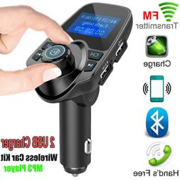 Bluetooth Car Kit Wireless FM Transmitter Dual with USB Char