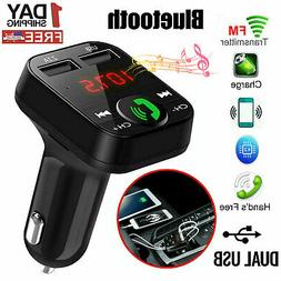 Bluetooth Car Kit Wireless FM Transmitter USB Charger Adapte