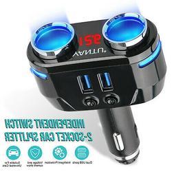 Bluetooth FM Transmitter Wireless Hands-free Car Kit USB Cha