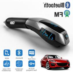 Bluetooth FM Transmitter Wireless LCD USB TF Audio MP3 Playe