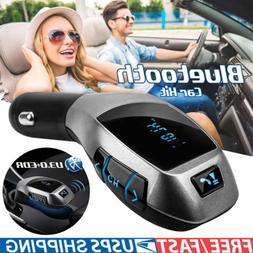 Bluetooth FM Transmitter Wireless Radio Adapter USB Charger