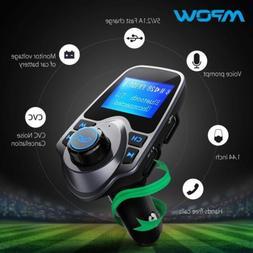 Bluetooth FM Transmitter  VicTsing Wireless Radio Adapter US