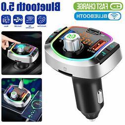 Bluetooth Car Wireless FM Transmitter MP3 Player Adapter Dua