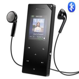 AGPTEK MP3 Player Bluetooth 16GB HIFI Sound with Speaker FM