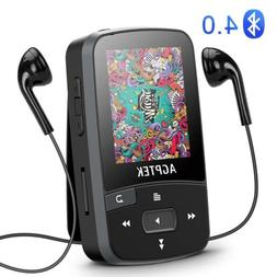 AGPTEK Bluetooth MP3 Player 16GB with Clip Supports FM Radio