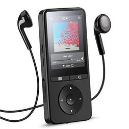 AGPTEK Bluetooth MP3 Player with 2.4 Inch TFT Color Screen,