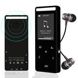 Bluetooth MP3 Player, 8GB Lossless Sound Entry Hi-Fi Touch B