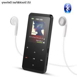 AGPTEK Bluetooth MP3 Player 8GB HIFI Lossless Sound FM Radio