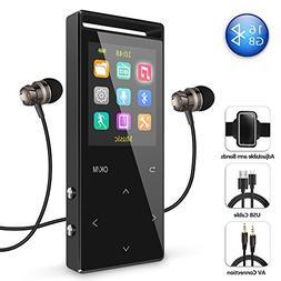 16GB Bluetooth MP3 Player with FM Radio/Voice Recorder, 60 H