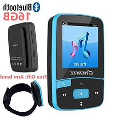 16GB Bluetooth MP3 Player With Clip For Running Lossless Sou