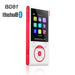 16GB Bluetooth MP3 Player with 50 Hrs Audio Playback,HiFi Lo