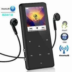 Bluetooth MP3 Player Portable FM Hi-Fi Lossless Media Radio