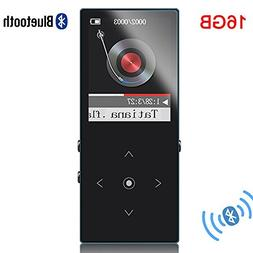 HONGYU 16GB Bluetooth MP3 Player Touch Button Ultra thin HiF
