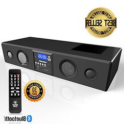Pyle 3D Surround Bluetooth Soundbar - Sound System Bass Spea