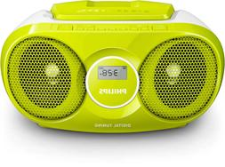 Philips BOOMBOX CD PLAYER Digital Tuner FM Radio & MP3 Link