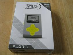 BRAND NEW ECLIPSE MP3 PLAYER FIT CLIP 4GB 1000+ SONGS