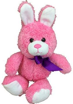 Animal Adventure Small Bright Pink Bunny Rabbit Plush Stuffe