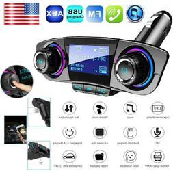 Wireless Car FM Transmitter Aux Radio Adapter MP3 Player Dua