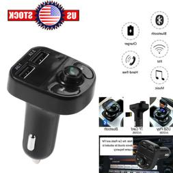 BT Wireless In-Car FM Transmitter MP3 Player Radio Adapter W