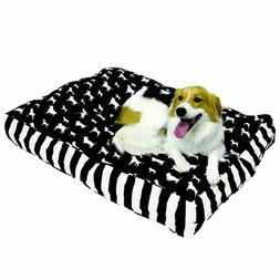 Happy Hounds Buster Large 36 by 48-Inch Dog Bed, Black/White