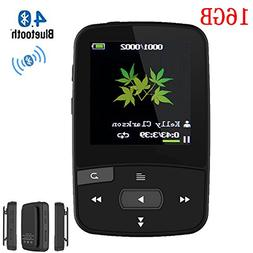 HONGYU C50 16GB Clip MP3 Player with Bluetooth 1.5 Inch Disp