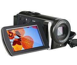 Camera Camcorder, Besteker 1080P Video Camera 20MP 16X Digit