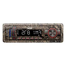 Camo Stereo Marine Headunit Receiver - 12v Camo Style Single