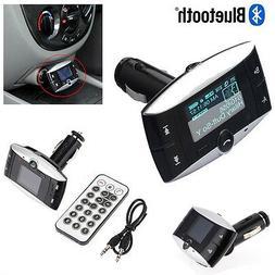 """1.5"""" LCD Car Kit Bluetooth Mp3 Player Sd MMC USB Remote Fm T"""