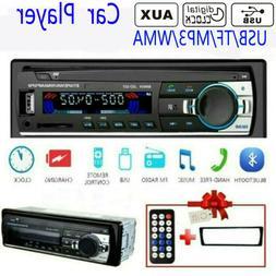Car Radio Mp3 Player USB TF AUX-IN Remote Control Digital Bl