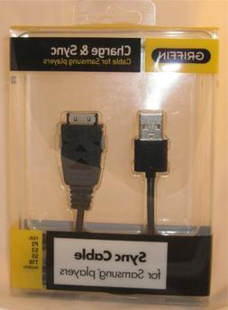 Griffin Charge & Sync Cable For Samsung Players P2 ,S3, S5 &