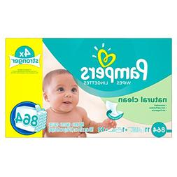 Pampers Natural Clean  Baby Wipes, 12X Box with Tub, 864 Cou