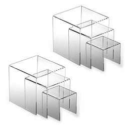 Adorox 2 Set Clear Acrylic Display Riser