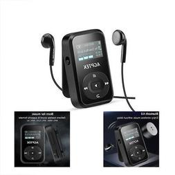 Clip MP3 & MP4 Players With Bluetooth 4.0,AGPTEK 8GB Sound